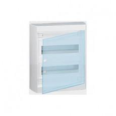 Nedbox Щит навесной 2х12м прозрачная дверь с N и PE
