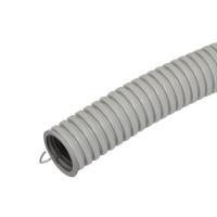 Труба ПВХ э/тех. легкого типа с зондом, d=25 мм, серая