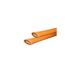 Труба ф110 с раструбом L=2 м рыжая нар.канализ.толщ.ст.3.4 (10) VALFEX