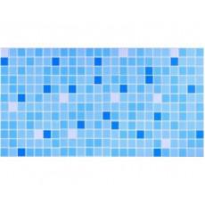 Панель ПВХ 0,3 мозаика Микс голубой