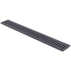 Решетка канала пластиковая (черная), 0,998*0,130*0,022м Дренажная система ПВХ