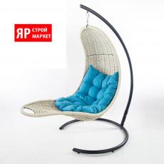 Кресло-шезлонг подвесное (в комплекте кресло, стойка, подушка, крепеж) Белый