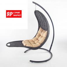 Кресло-шезлонг подвесное (в комплекте кресло, стойка, подушка, крепеж) Черный