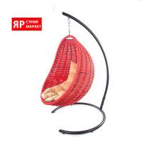 Кресло-кокон подвесное (в комплекте кресло, стойка, подушка, крепеж) Красный