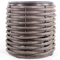 Вазон из полимерной лозы низкий 400 Серый