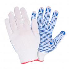 Перчатки вязаные х/б, 3 нитки с ПВХ