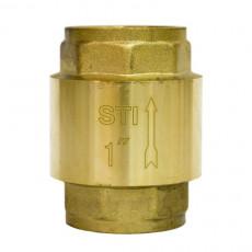 Клапан обратный пружинный STI 25  (латунь)