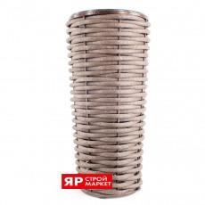 Вазон из полимерной лозы высокий 810 Коричневый