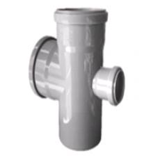 Крестовина  50/50/50х45° вн.канализ. (100) VALFEX