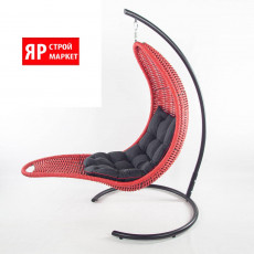 Кресло-шезлонг подвесное (в комплекте кресло, стойка, подушка, крепеж) Красный