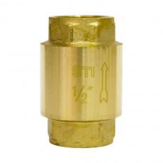 Клапан обратный пружинный STI 15  (латунь)