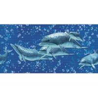 Панель ПВХ 0,3 мозаика «Дельфины»