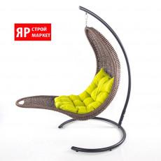 Кресло-шезлонг подвесное (в комплекте кресло, стойка, подушка, крепеж) Коричневый