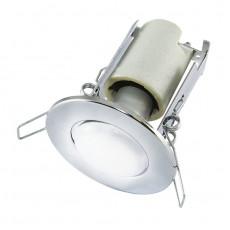 Светильник встраиваемый R50 круглый Е14, 60Вт, 230В, IP20, хром