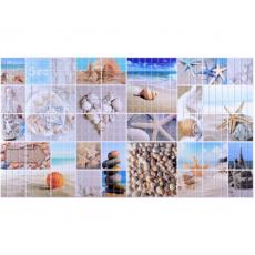 Панель ПВХ 0,3 мозаика Морской берег